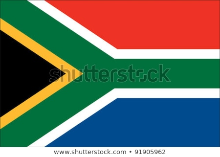 Südafrika Flagge weiß groß Set Design Stock foto © butenkow