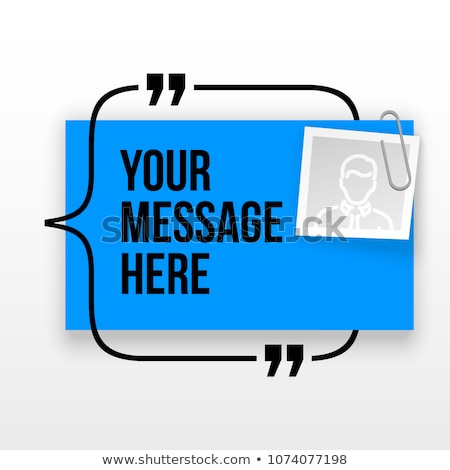 Blue Innovative vector quotation template in quotes. Creative vector banner illustration with a quot Stock photo © kyryloff