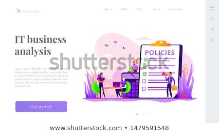 Business regeren app interface sjabloon zakenlieden Stockfoto © RAStudio