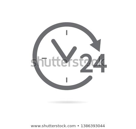24 açmak hat saat dizayn iş Stok fotoğraf © SArts