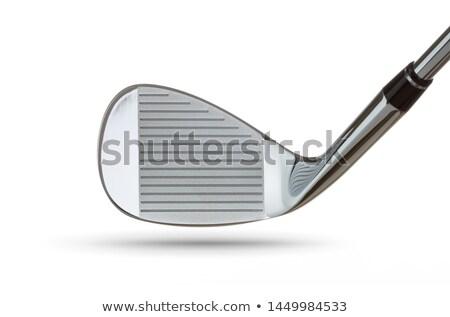 лице гольф клуба железной голову изолированный Сток-фото © feverpitch