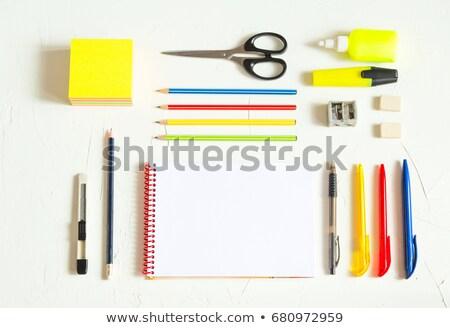 Olá escolas caderno folha alunos vetor Foto stock © robuart