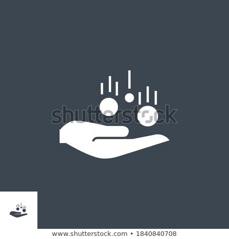érme kéz vektor ikon izolált fehér Stock fotó © smoki