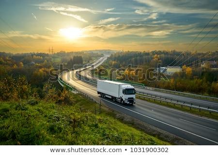 ładunku ciężarówka biały kolor ciężki ruchu Zdjęcia stock © Ipajoel