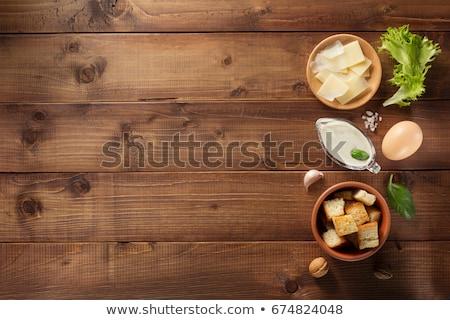 材料 シーザーサラダ 木製 食品 鶏 チーズ ストックフォト © Alex9500