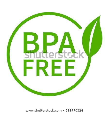 bpa free bisphenol a and phthalates badge stamp labels stock photo © sarts