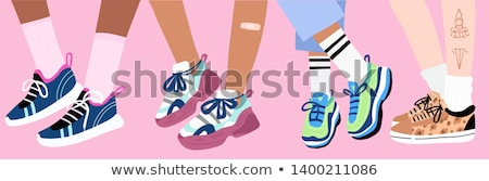 vintage sneaker Stock photo © winnond