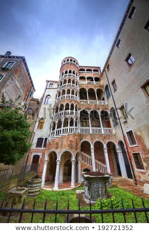 External Spiral Staircase At Building In Venice Italy Stock photo © AndreyPopov