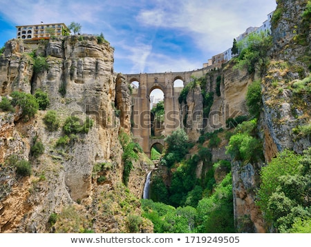 橋 · 新しい · スペイン語 · 18世紀 · 自然 - ストックフォト © borisb17