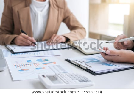 Co working conference, Business team meeting present, investor e Stock photo © Freedomz