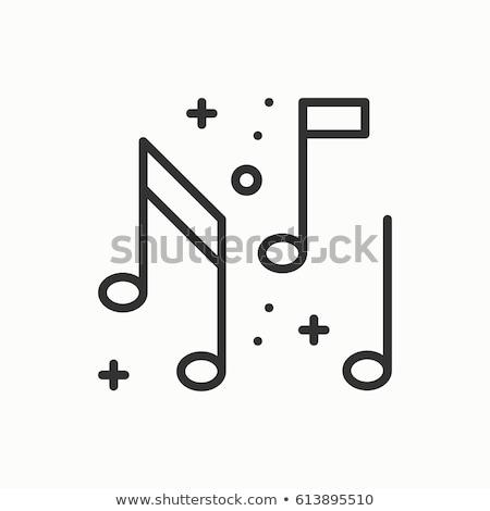 Muziek merkt bruiloft dans dun lijn vector Stockfoto © pikepicture