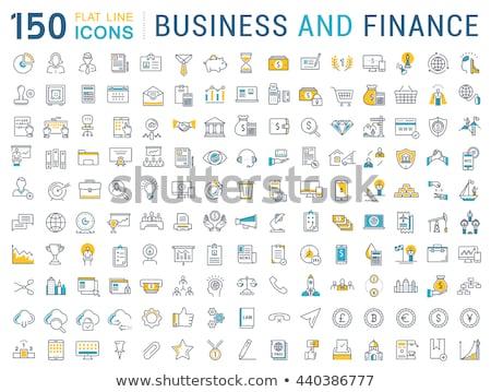 Finansowych rachunkowości kolekcja wektora cienki Zdjęcia stock © pikepicture