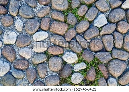 Detail of the block stone pathway Stock photo © boggy