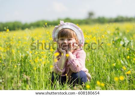 Belo little girl jogar pai natureza família Foto stock © Lopolo