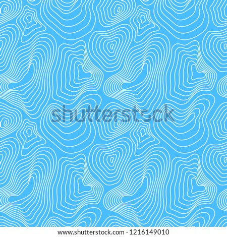 Heights map, white contour on blue, seamless pattern Stock photo © evgeny89