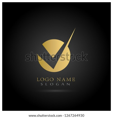 V Letter icon Template vector Stock photo © Ggs