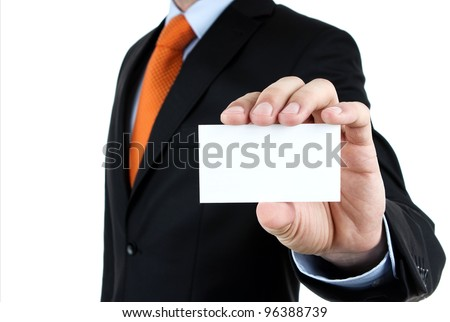 hand of businessman offering businesscard Stock photo © ozaiachin