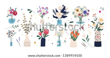 Hermosa flores hierbas flor aumentó mujeres Foto stock © wjarek