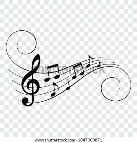 music notes background Stock photo © romvo