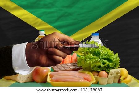Buying Groceries With Credit Card In Jamaica Foto stock © vepar5