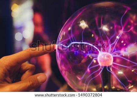 Plasma lampe coloré expérience lumière technologie Photo stock © ErickN
