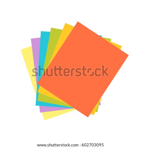 curved, colored paper Stock photo © w20er
