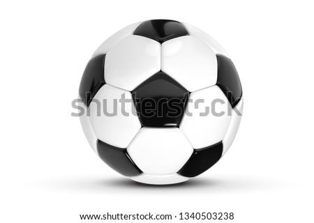 Stock fotó: Futball · gól · futballabda · net · 3d · illusztráció