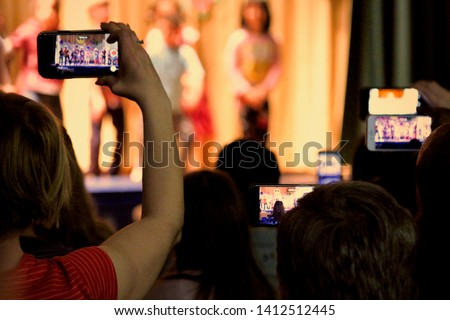 Children performing on stage Stock photo © bluering