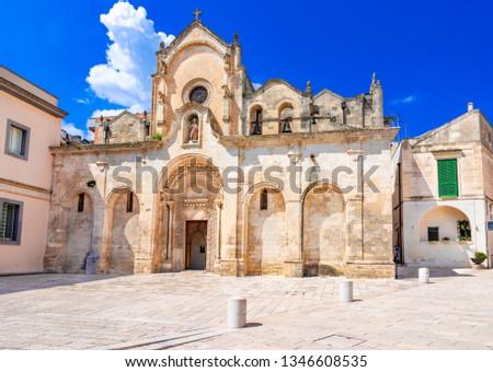 San Giovanni Battista church in Matera, Italy Stock photo © boggy