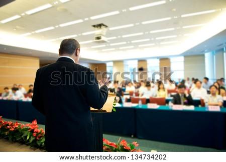 Imprenditore podio sala conferenze composito digitale uomo Foto d'archivio © wavebreak_media