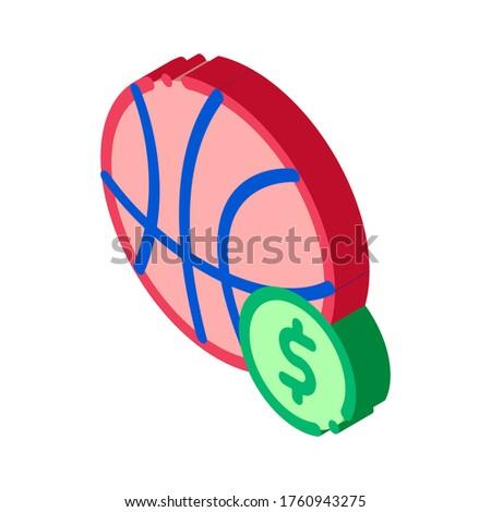 Kosárlabda labda fogadás hazárdjáték izometrikus ikon Stock fotó © pikepicture