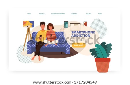 Tecnologia dipendenza app interfaccia modello Foto d'archivio © RAStudio