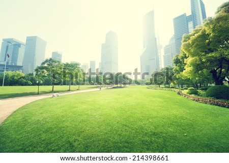 green landscape with city stock photo © wad
