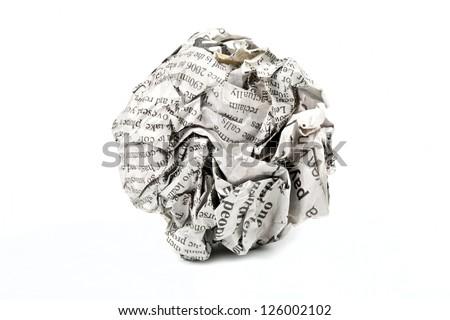 Newspaper Ball Foto d'archivio © chrisdorney