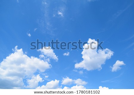 Blue sunny sky with white clouds in daytime, nature Stock photo © lunamarina