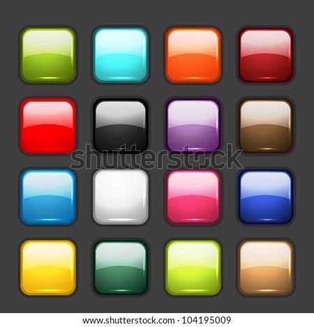 Web Internet Square Vector Yellow Icon Design Set Stock photo © rizwanali3d