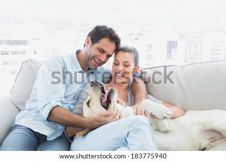 Tre sorridere Coppia amore uomo luce Foto d'archivio © konradbak