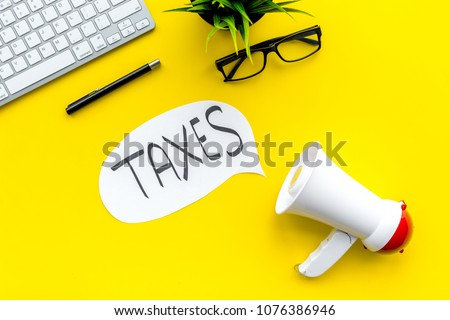 Taxes Megaphone Concept Stock photo © ivelin