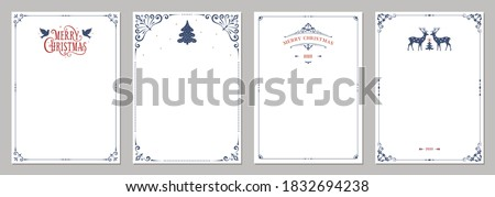winter paper letter with frame stock photo © janpietruszka