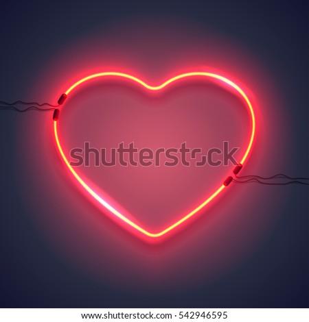 Szeretet szív lila neon szalag gyors Stock fotó © Voysla