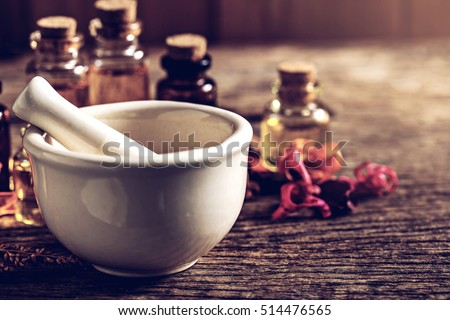 wooden pestle in a mortar Stock photo © Rob_Stark