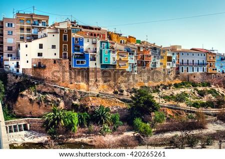 kasaba · İspanya · dijital · suluboya · boyama · topluluk - stok fotoğraf © lianem
