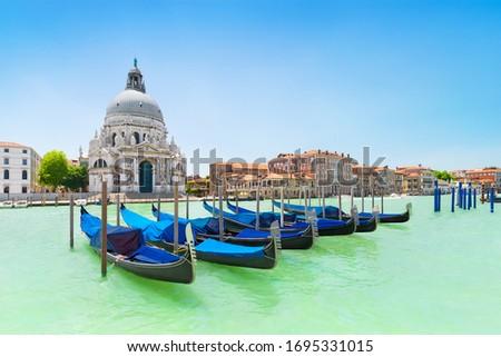 Сток-фото: гондола · базилика · канал · Венеция · Италия