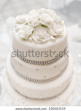 beautiful delicious white wedding cake wedding day stock photo © ruslanshramko