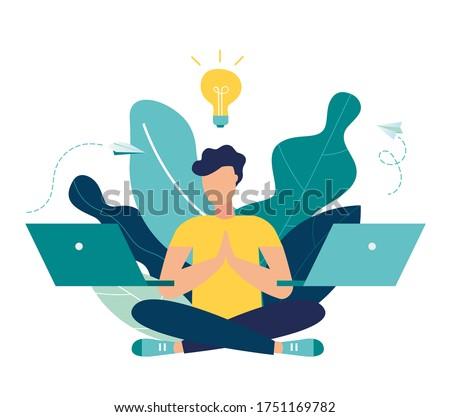 Stock photo: Woman working yoga exercise