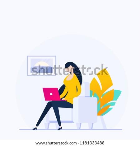 nő · laptopot · használ · oktatás · ázsiai · ül · laptop - stock fotó © robuart