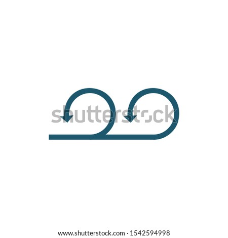 Circular u-turn two directional arrows sign. Can be used for road signs or logo. Stock Vector illust Stock photo © kyryloff