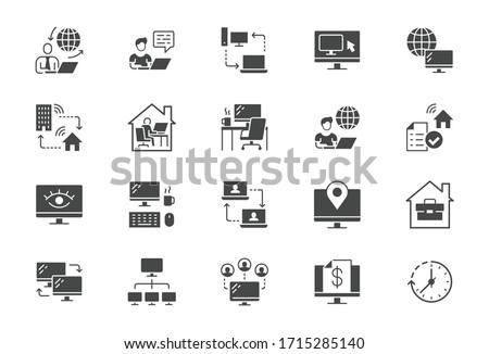 Portfolio Vector Glyph Icon Stock photo © smoki
