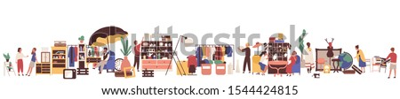 Selling or Buying Goods, Garage Sale, Shop Vector Stock photo © robuart