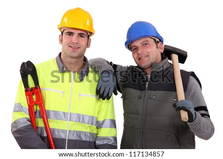 Two manual workers stood together Stock photo © photography33